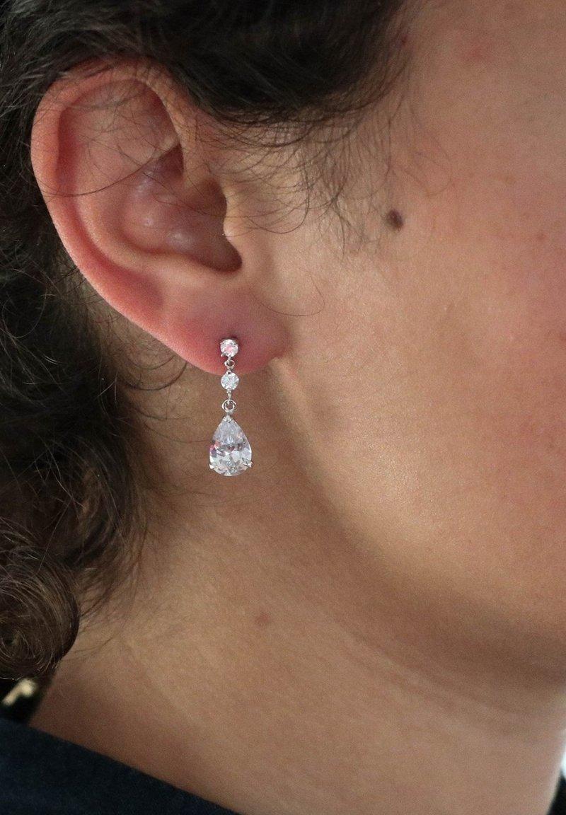 Lucardi - HANGER DRUPPEL - Earrings - zilver