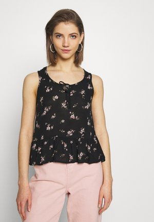 BARE FASHION DETAIL CAMI - Bluser - black