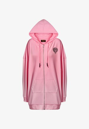 LOVE ED OVERSIZE ZIP HOODY - Hoodie met rits - pink
