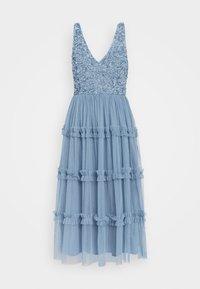 MARYAM MIDI - Cocktail dress / Party dress - dusty blue