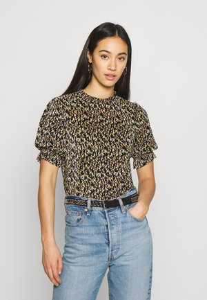 PUFF PIECRUST PLISSE  - Blouse - black