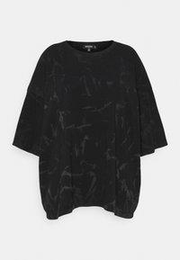 Missguided Plus - TIE DYE - Print T-shirt - black - 4