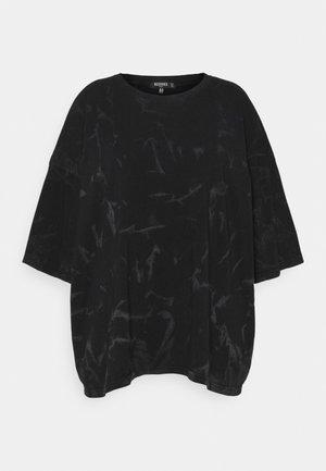 TIE DYE - T-shirt con stampa - black