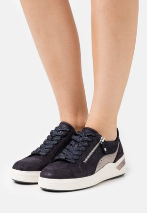 LACE UP - Trainers - navy/pewter