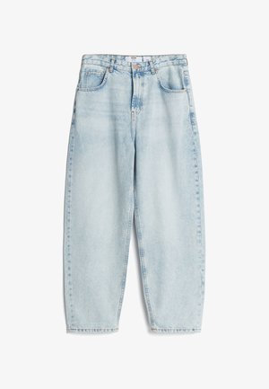 MIT WEITEM BEIN IM  - Džíny Straight Fit - blue denim