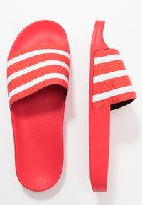 adidas Originals - ADILETTE - Sandály do bazénu - lush red/footwear white - 1