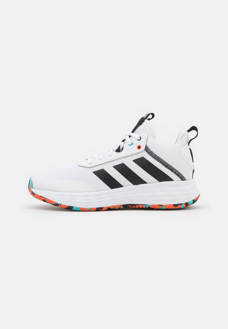 adidas Performance - OWN THE GAME 2.0 BASKETBALL LIGHTMOTION SHOES UNISEX - Basketball shoes - footwear white/core black/true orange