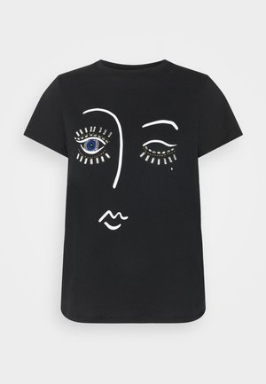 BLING EYELASH TEE - T-shirt imprimé - black
