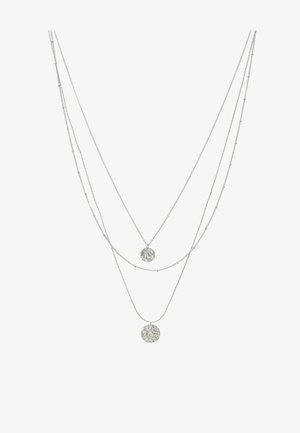 PCEIDA COMBI NECKLACE KEY - Collana - silver-coloured