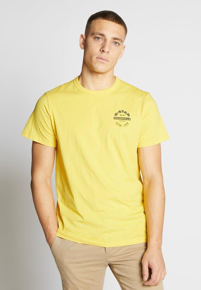 ORIGINALS LOGO GR - Print T-shirt - lemon