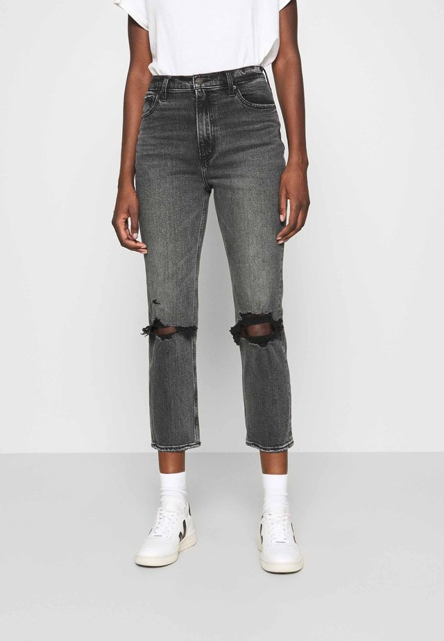 KNEE SLIT  - Straight leg jeans - grey wash
