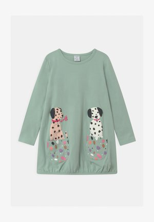 MINI LONG PLAYFUL POCKETS - Long sleeved top - light dusty turquoise
