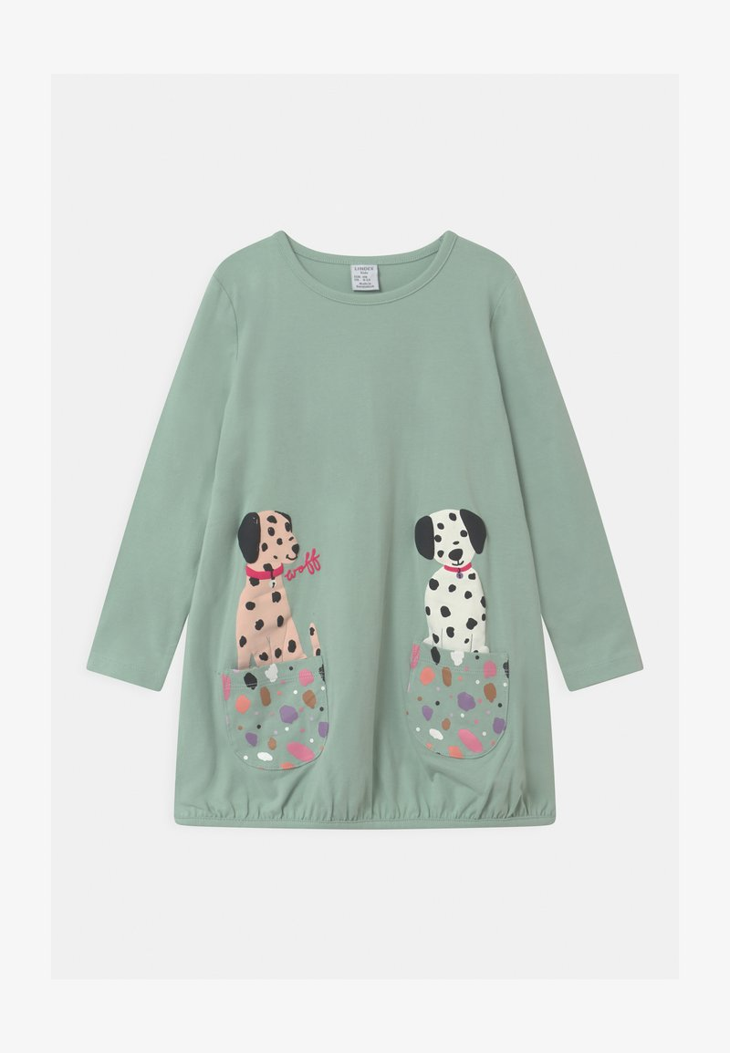 Lindex - MINI LONG PLAYFUL POCKETS - Long sleeved top - light dusty turquoise