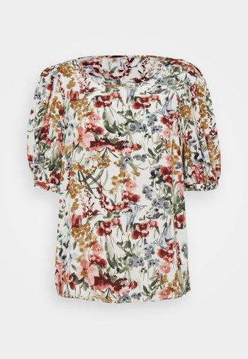 ONLKARMA LIFE  - Camiseta estampada - cloud dancer