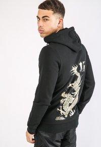 Ed Hardy - DRAGON-13 ZIP THRU FLEECE SWEAT HOODY - Zip-up hoodie - black - 2