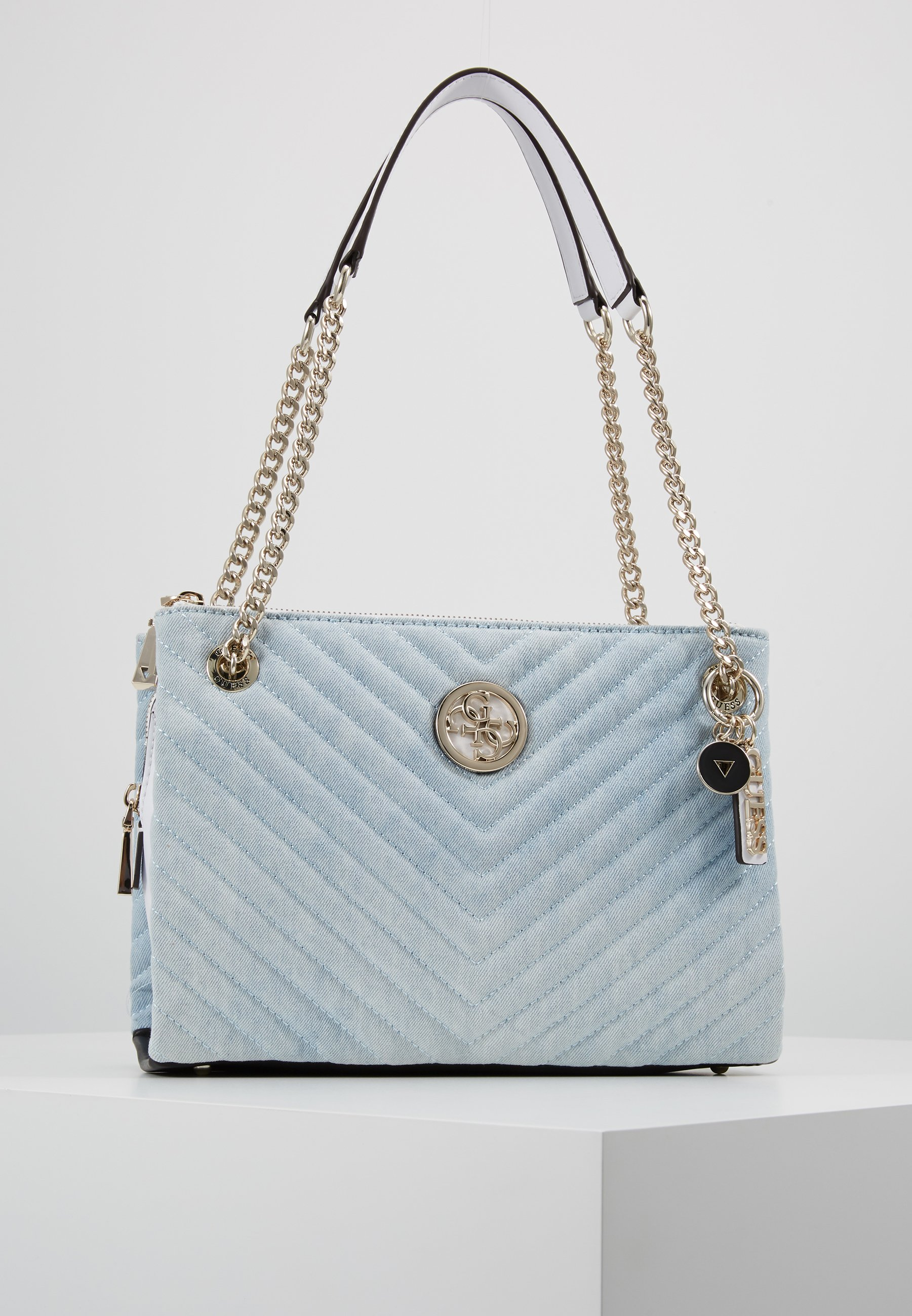 Guess BLAKELY STATUS LUXE SATCHEL Håndveske blue