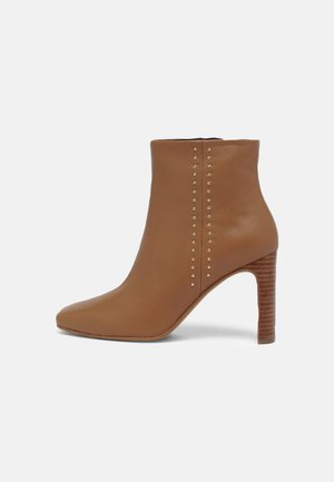 KELSY - High heeled ankle boots - cognac