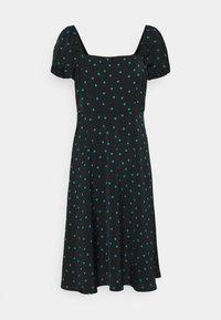 Even&Odd Petite - Maxi dress - black/green - 0