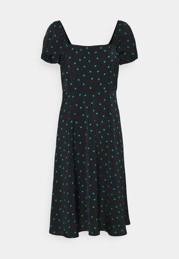Maxi dress - black/green