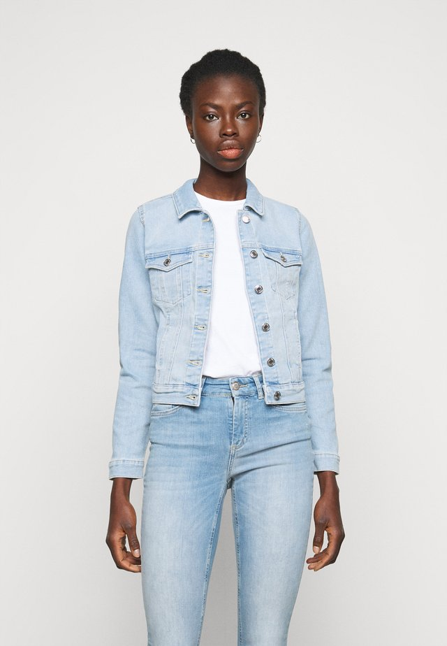 VMFAITH SLIM JACKET MIX - Denim jacket - light blue denim