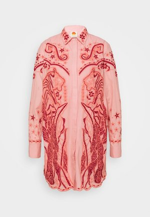 EMBROIDERED WESTERN DRESS - Shirt dress - light pink
