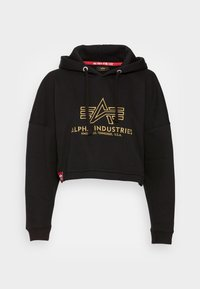 Alpha Industries - BASIC HOODY EMBROIDERY  - Sweatshirt - black - 3