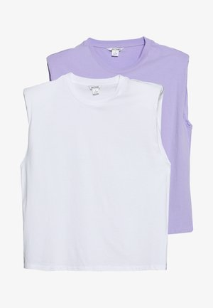 BIANCA 2 PACK - Top - lilac/white