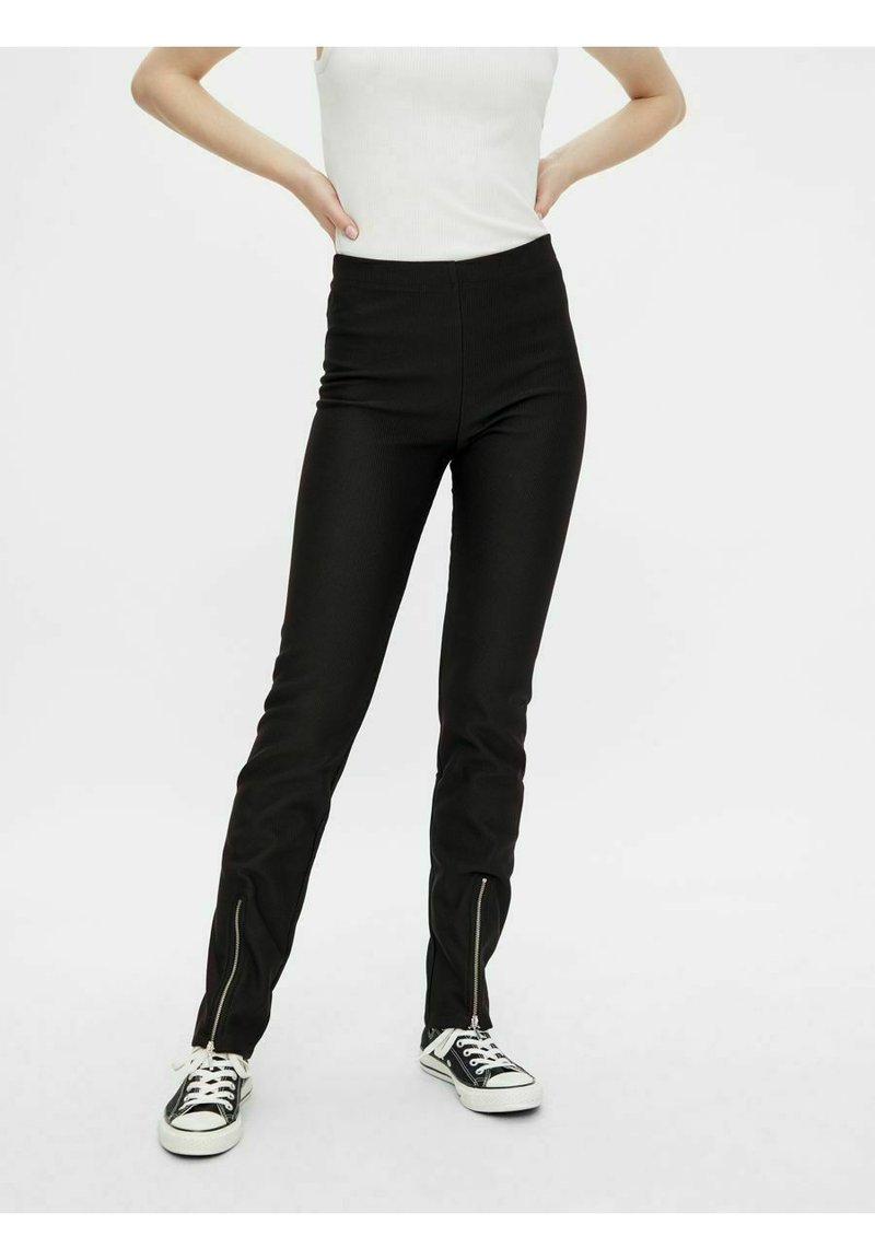 Pieces - Trousers - black