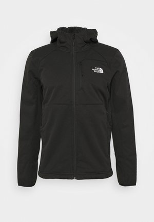 QUEST HOODED - Softshelljacka - tnf black