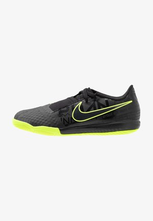 NIKE JR. PHANTOM  ACADEMY IC - Indoor football boots - black/volt