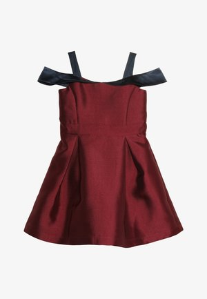 Cocktail dress / Party dress - red plum/navy