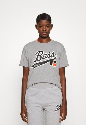 Boss x Russell Athletic EVARSY - Print T-shirt - grey