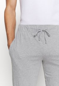 Pier One - 2 PACK - Pyjama bottoms - mottled dark grey/mottled grey - 6