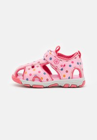 Color Kids - BABY VELDRO STRAP - Walking sandals - cotton candy - 0