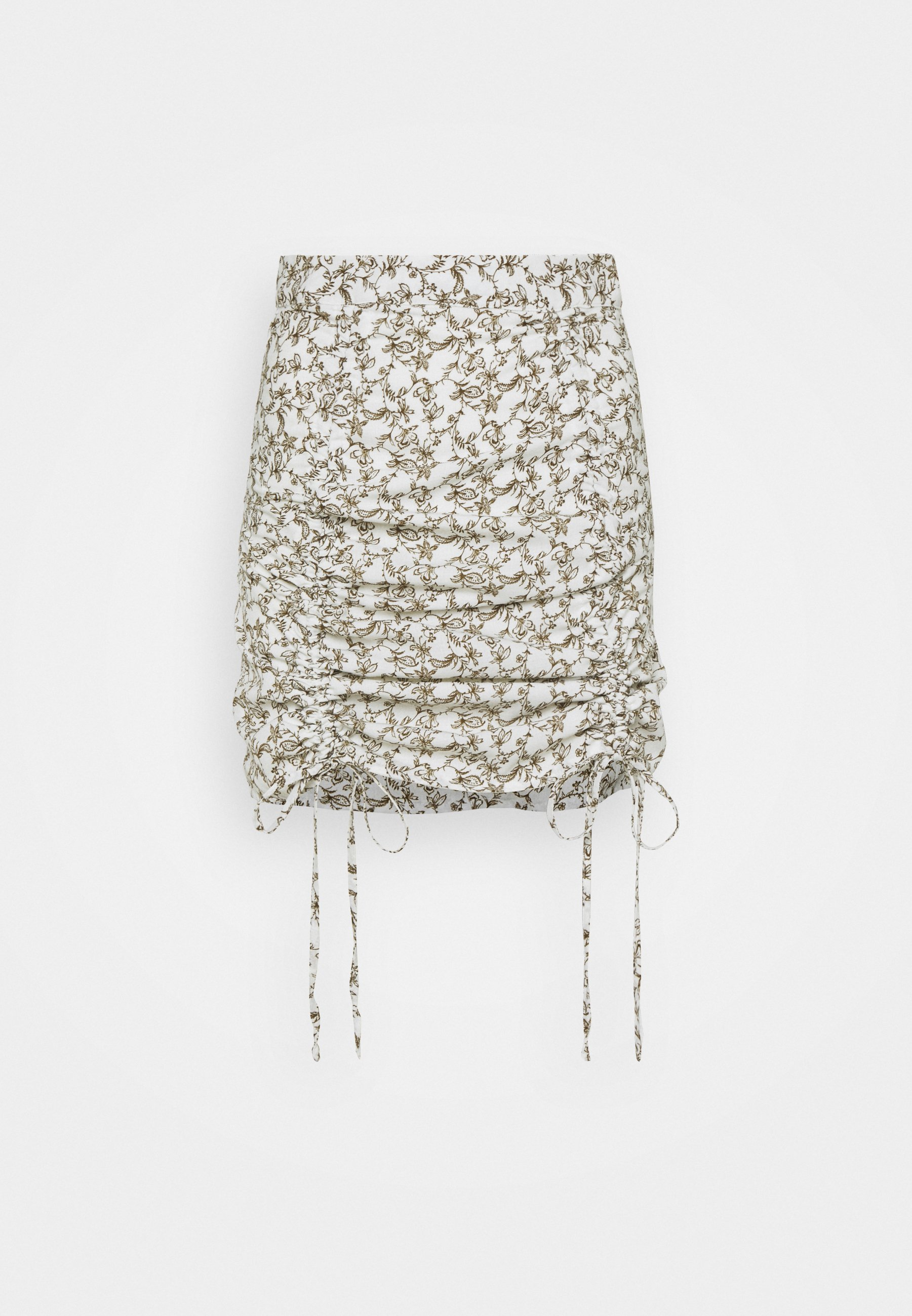 Femme RUCHED MINI SKIRT WITH FRONT TIE DETAILS - Minijupe