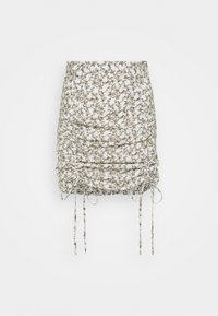 Glamorous - RUCHED MINI SKIRT WITH FRONT TIE DETAILS - Minisukně - linear floral - 0