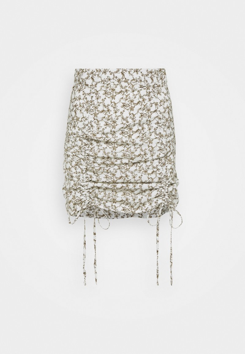 Glamorous - RUCHED MINI SKIRT WITH FRONT TIE DETAILS - Minisukně - linear floral