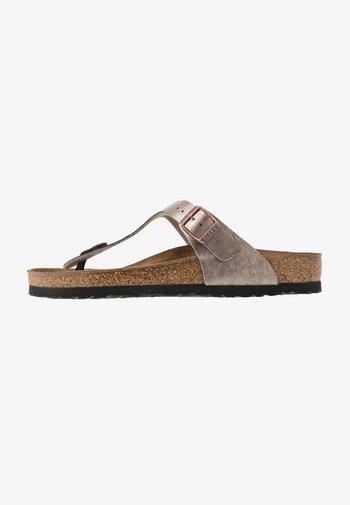 GIZEH - Sandály s odděleným palcem - graceful taupe