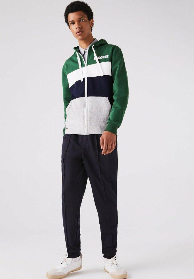 SH1506 - Zip-up hoodie - green/navy blue-silver chine-white