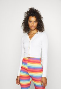 Missguided Tall - SKINNY CROPPED - Gilet - white - 0