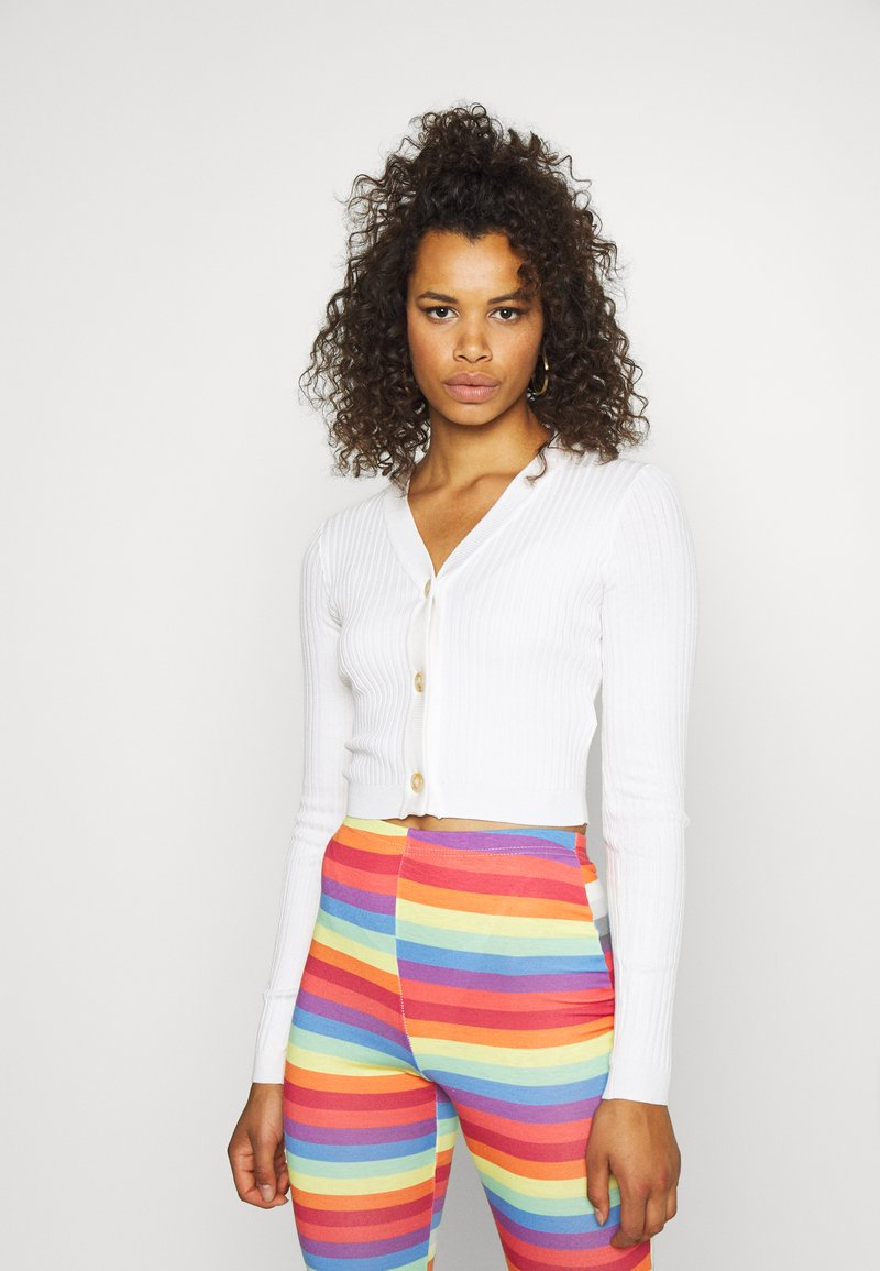 Missguided Tall - SKINNY CROPPED - Cardigan - white