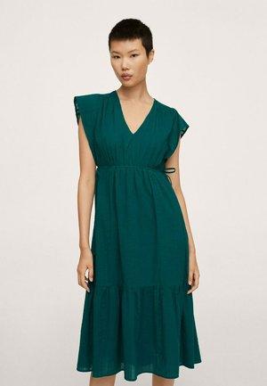 Jersey dress - smaragdgrønn