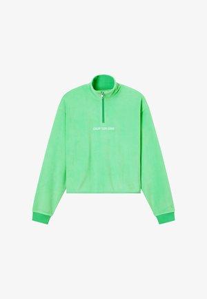 POLAR ZIP NECK  - Fleece jumper - light green