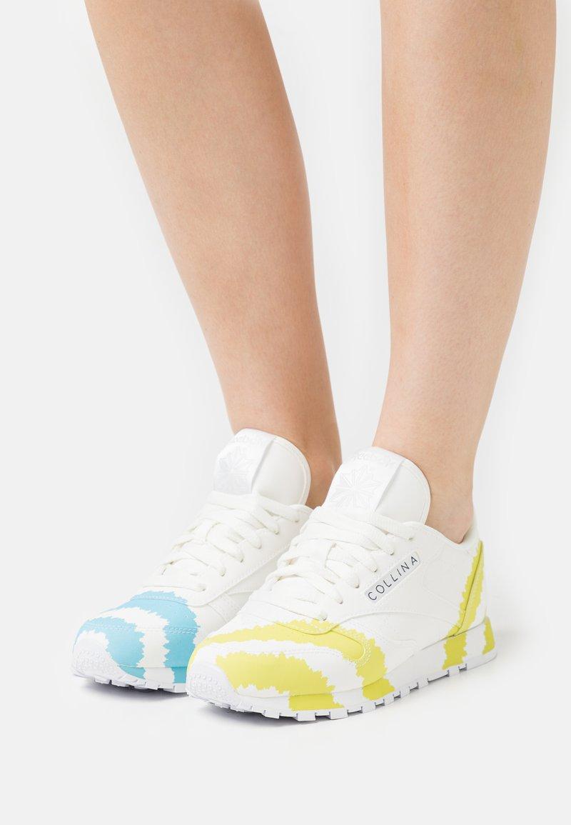 Reebok Classic - COLLINA STRADA X REEBOK CLASSIC LEATHER - Trainers - footwear white/digital blue/acid yellow
