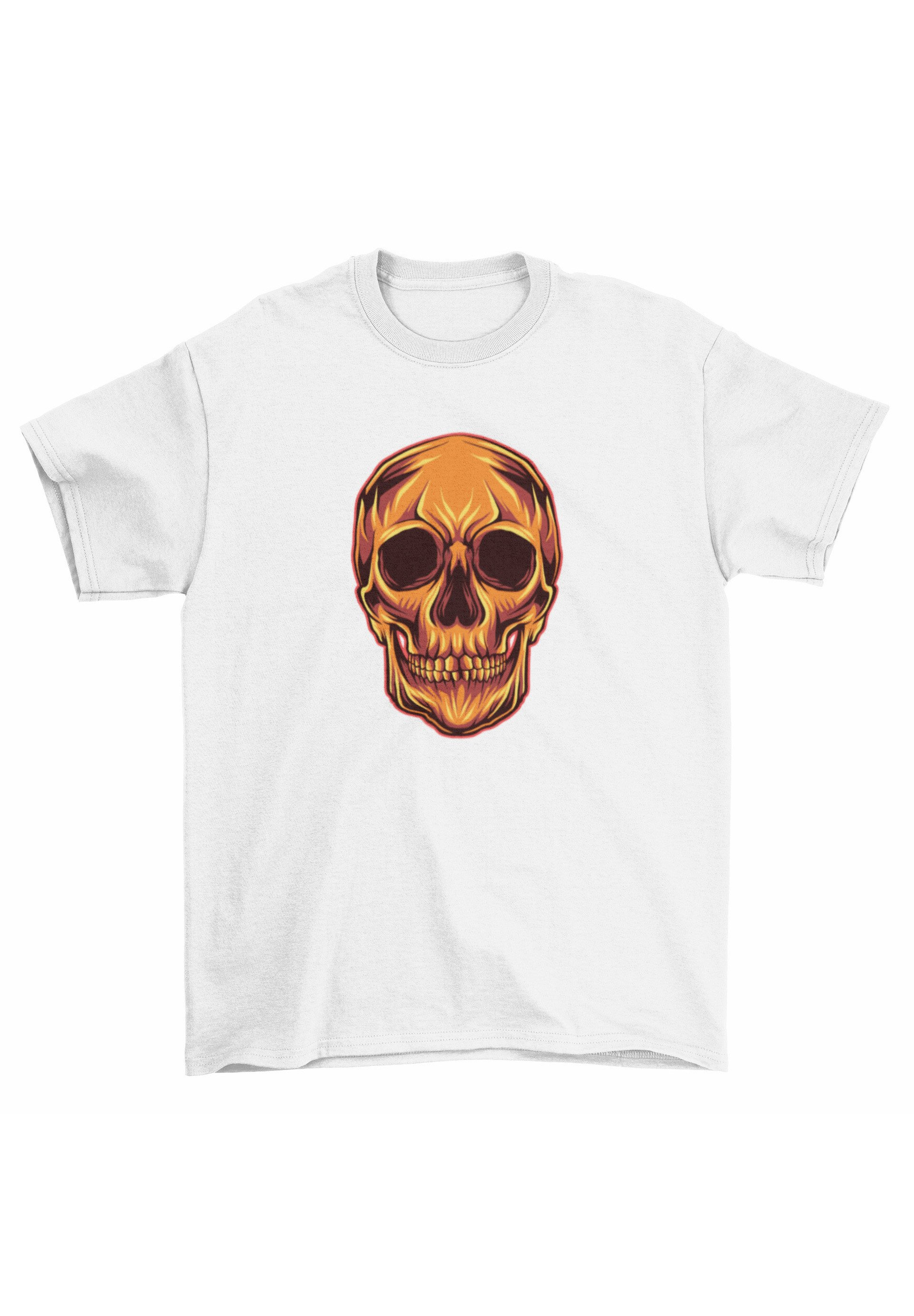 Herren BURNING SKULL - T-Shirt print
