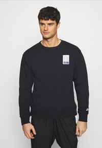 Nike SB - STRIPES CREW UNISEX - Sweatshirt - black/white - 0