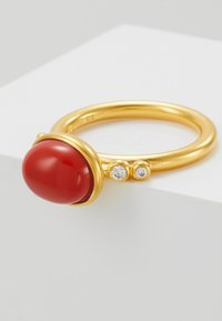 Julie Sandlau - POETRY RINGS - Anello - gold-coloured/red coral chrystal - 5