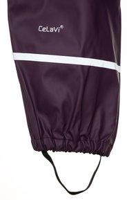 CeLaVi - RAINWEAR SUIT BASIC SET WITH FLEECE LINING - Rain trousers - blackberry wine - 4