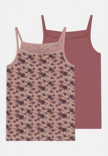 NKFSTRAP FLOWER 2 PACK - Undershirt - deco rose