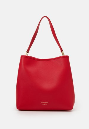 CAPSULE MYEAHOBO - Handbag - rosso/silver-coloured